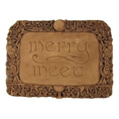 Merry Meet Wall Plaque Wood Finish *** Find out more about the great product at the image link. Note: It's an affiliate link to Amazon.