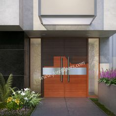 Modern double entry door