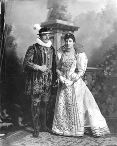 Princess Louise, Duchess of Fife  and Alexander William George Duff,  1st Duke of Fife 'in costume of period of Henry II'