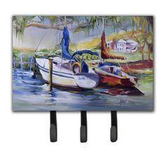 Caroline's Treasures Lucky Dream Sailboat Leash Holder and Key Hook