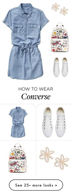 """""""Untitled #1867"""" by bushphawan on Polyvore featuring Gap, Anya Hindmarch, Nadri and Converse"""