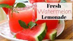 Fresh Watermelon Lemonade Recipe  Summer Drinks!