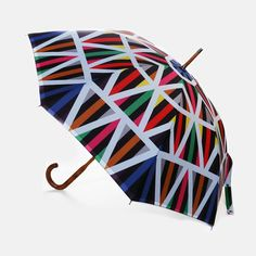 David David brand has a whole new series of bold, graphic prints on a collection of walking stick umbrellas that will keep you dry and happy on rainy days.  :: Fun umbrellas to shield you from the South Florida rains.