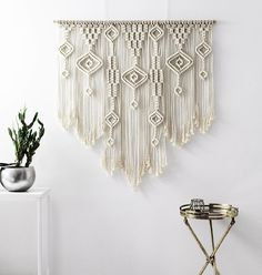 LARGE Wall Art Macrame Wall Hanging Over Bed Wall Art Over