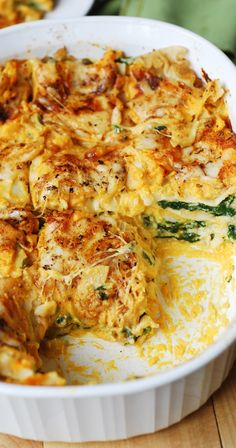 //VEGETARIAN, GLUTEN-FREE// Butternut Squash and Spinach Three Cheese Lasagna combines amazing flavors to create the ultimate Fall & Winter comfort food. Gluten free friendly - use Tinkyada brown rice pasta Veggie Dishes, Veggie Recipes, Pasta Recipes, Cooking Recipes, Healthy Recipes, Lasagna Recipes, Pasta Meals, Vegetarian Comfort Food, Gluten Free Vegetarian Recipes