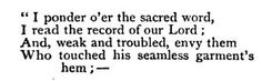 """This passage from """"The Chapel of the Hermits"""" by John Greenleaf Whittier is referenced in the song """"Scarlet Town."""""""