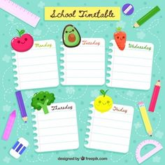 Back to school hand drawn timetable template Vector Educational Games For Preschoolers, Printable Activities For Kids, Timetable Template, Powerpoint Template Free, Icon Set, School Timetable, Planners, Weekly Planner Template, School Clipart