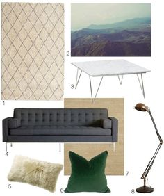 One Design, Two Budgets: An Organic Modern, Eclectic Living Room | Apartment…