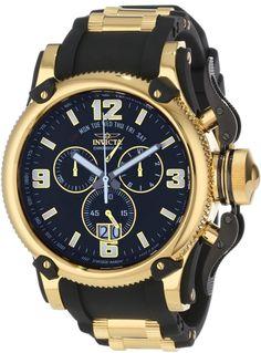 Invicta Men's Black Dial Black Polyurethane Watch
