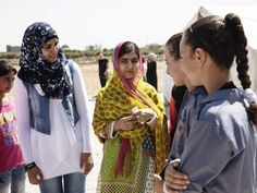 It's Malala's birthday today, and she's spending it in the awesomest way possible