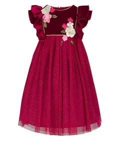 Baby Chloella Dress | Red | Monsoon