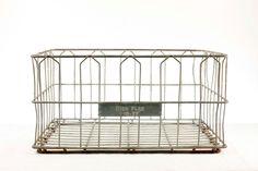 Vintage Heavy Duty Industrial Metal Wire Crate // Large Retangular Metal  Wire Basket // Wire Storage Crate
