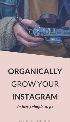 Build an organic Instagram audience with these 5 simple steps! Find out everything you need to do to get more followers and engagement for your blog or biz.