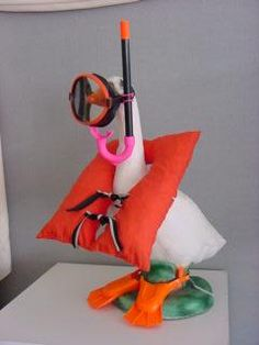 Snorkel outfit for lawn goose