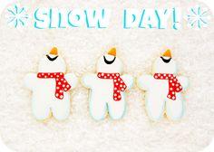 Snow Day Snowman Cookies
