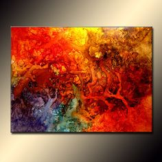 Abstract Art Huge Abstract PaintingOriginal by newwaveartgallery, $2337.50