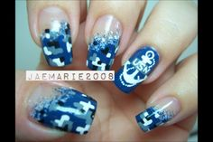 US Navy nails I found on YouTube! Check out her channel