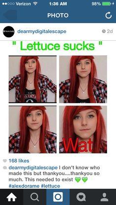 Alex) dont make fun of da lettuce