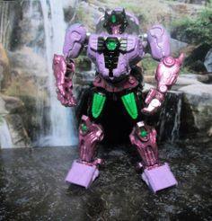 CUSTOM TRANSFORMERS GENERATIONS  BEAST WARS  SHATTERED GLASS OPTIMUS PRIMAL #Hasbro