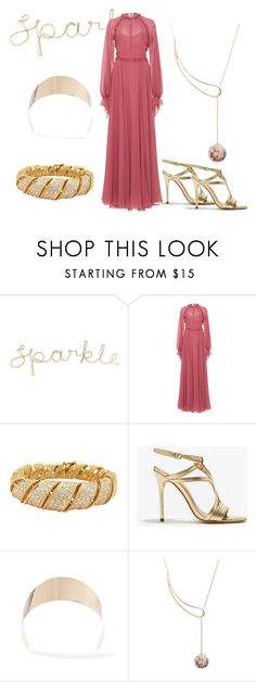 """""""Pink and Gold"""" by faeryrain on Polyvore featuring LUISA BECCARIA, Halston Heritage, Givenchy, Louis Vuitton, pinklady, embellishedsleeves and polyvorecontestset"""
