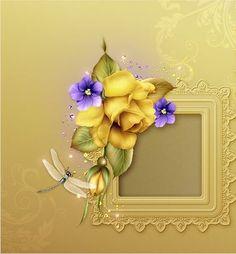 "Moonbeam's ~ ""Yellow Roses & Violets"" ~ moonbeam1212."
