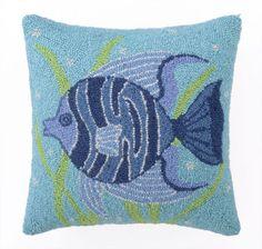 Fun Fish II Hooked Pillow