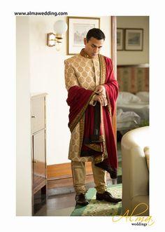 Indian Groom Wear - New Delhi weddings   Tushar & Rupan wedding story   WedMeGood #wedmegood