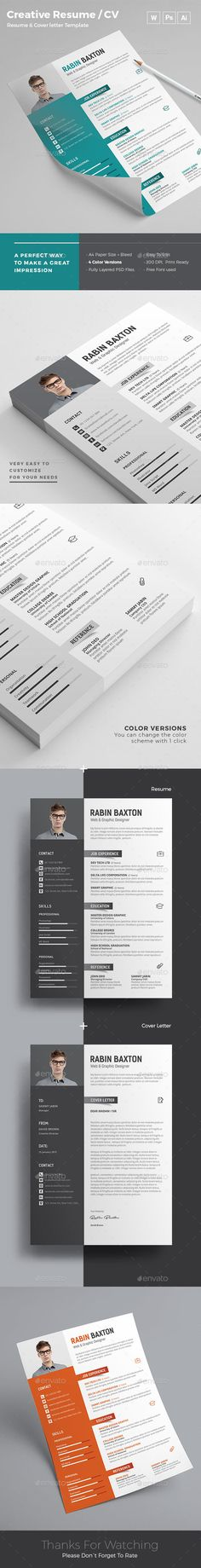101 best Resume images on Pinterest Cv template, Design resume and