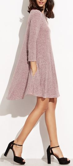 Comfortable sewing dress for winter. $14.99 at shein.com.