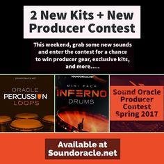 2 New #Kits   #ProducerContest  #SoundOracle #OraclePercussionLoops, #Percussion, #PercussionLoops, #OracleLoops, #OracleLoopsSeries, #Loops, #MusicLoops, #PremiumLoops, #Sounds, #SoundKits #SoundLibrary, #Drums, #DrumLoops, #DrumKits,#MusicProducers, #Producers https://goo.gl/6YYV69