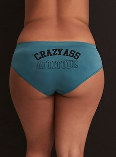 bd9ddfce9af Plus Size Crazy Ass Attitude Seamless Hipster Panty