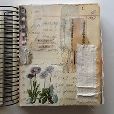 Book Art Collage Work Fabric Art …, - Sites new Art Journal Pages, Album Journal, Journal Diary, Scrapbook Journal, Junk Journal, Art Journals, Journal Ideas, Journal Sample, Visual Journals