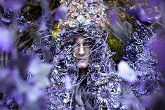 """A Floral Birth"" image from ""Wonderland"" by photographer Kirsty Mitchell and makeup artist Elbie Van Eeden"