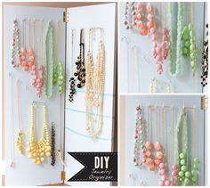 Con bisagras | 25 Maneras inteligentes de organizar tus joyas haciéndolo tu misma