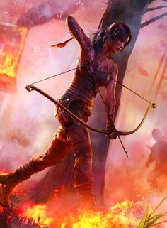 (Open Rp, im her) i run from the fire, my arrow ready. I just lost my best friend in this battle, i think there is only 2 others left, but im not sure.