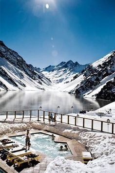 """Swiss Alps, Switzerland For the skiing couple, jet setting to the Swiss Alps is a dream getaway. This destination is another one on our """"Splurge Alert!"""" list, but it's well worth it. With world-class ski mountains and lavish chalets, the Swiss Alps makes for a pristine place to cozy up with your new Mr. or Mrs. Reviews say that booking a cabin is the way to go, but a more affordable option is the Grand Hotel Kronenhof or the Kulm Hotel in St. Moritz."""