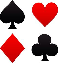 free clip art of red and black playing card suits spades hearts rh pinterest co uk free clip art playing cards bridge clip art playing cards bridge