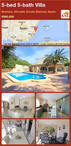 Villa for Sale in Benissa, Alicante (Costa Blanca), Spain with 5 bedrooms, 5 bathrooms - A Spanish Life Murcia, Sleeping Loft, Central Heating, Under Stairs, Mediterranean Sea, Maine House, Large Windows, Wine Cellar, Rustic Style