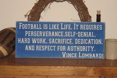 Football teaches more about life than people know