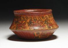 Maya Copador Polychrome Olla Sculpture, Aztec, Maya, Decorative Bowls, America, Ceramics, Natural, Music, Life