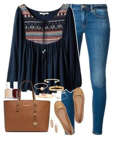 """""""Be a person you'd want to meet."""" by kaley-ii ❤ liked on Polyvore featuring MICHAEL Michael Kors, Michael Kors, Essie, Cartier, Marc by Marc Jacobs, Tory Burch, Lucky Eyes and Kendra Scott - blue leather handbags, maroon purse, women's bags and purses *sponsored https://www.pinterest.com/purses_handbags/ https://www.pinterest.com/explore/purses/ https://www.pinterest.com/purses_handbags/black-purse/ http://www.6pm.com/handbags"""