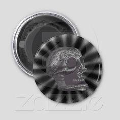 the Skull! Rays! Black & White from Zazzle.com