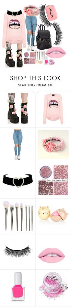 """""""LOVE!!!!!!!"""" by sabri-lujan ❤ liked on Polyvore featuring Sugar Thrillz, Markus Lupfer, Battington, tenoverten, In Your Dreams and Anya Hindmarch"""