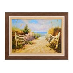 Seaside Stroll Framed Art Print   Kirklands