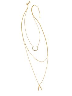 3ba2804475a5 How to Get the Perfect Layered Necklace Look (Minus the Effort)    Madewell  Halfmoon Layering Necklace