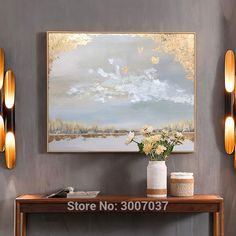 Hand Painted High quality Landscape Gold Oil Painting Wall Art Golden Foil Oil Painting On Canvas For home decor Canvas Home, Canvas Wall Art, Nordic Art, Panel Art, Gold Art, Modern Wall Art, Oil Painting On Canvas, Hand Painted, Abstract