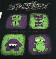 Skillet I Feel Like A Monster Small Short Sleeve Tee T-Shirt Christian Band #FruitoftheLoom #GraphicTee