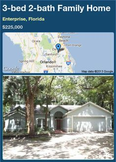 3-bed 2-bath Family Home in Enterprise, Florida ►$225,000 #PropertyForSale #RealEstate #Florida http://florida-magic.com/properties/23760-family-home-for-sale-in-enterprise-florida-with-3-bedroom-2-bathroom