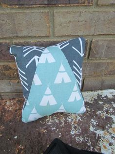 Follow your own arrow Grey and turquoise Chevron by PriMEtive