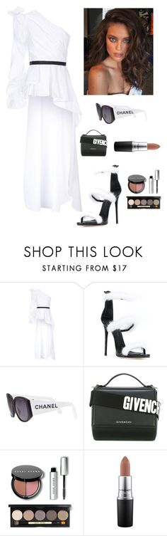 """""""One Shoulder Elegance"""" by kotnourka ❤ liked on Polyvore featuring Johanna Ortiz, Giuseppe Zanotti, Chanel, Givenchy, Bobbi Brown Cosmetics and MAC Cosmetics"""